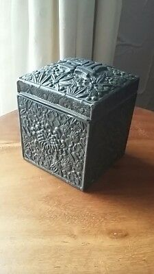 antique chinese pewter box