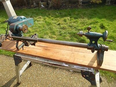 "Coronet ""The Elf"" WOod Turning Lathe 29"" bed. WIth Gryphon Motor"