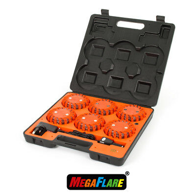 MegaFlare 6-Pack Emergency Recovery Flashing Warning Flare Lights Beacon Red