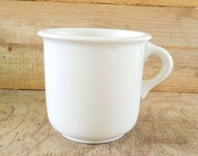 Antique Hall China Cup White Ironstone Mess Hall Soup Porridge Military Style