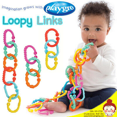 ❤ Playgro First Chewy Baby Activity Rings Loopy Links First Toy Teether 24 Pack