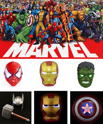 Super Eroe Avengers Hulk Thor Captain America Spiderman e Iron Man LED MASCHERA