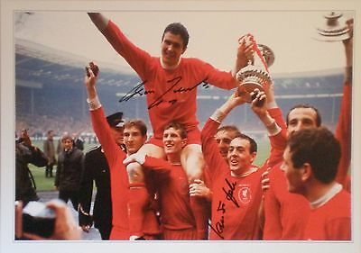 Ron Yeats & Ian St John Signed Liverpool 1965 FA Cup Photo 16x12 COA AFTAL