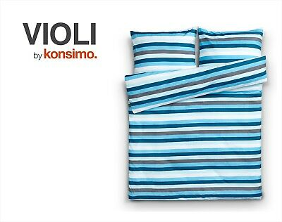 KONSIMO - VIOLI Bettwäsche Set Bettgarnitur 160x200/ 2*70x80 100% Mikrofaser TOP