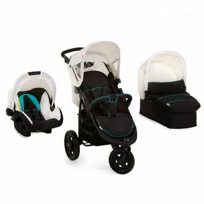 New Hauck Viper Trio Travel System 3 wheeler pushchair buggy set Beige+Raincover