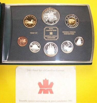 Kanada, 2001, KMS, Double Dollar Prestige Set, PP