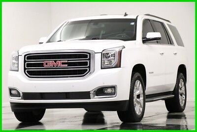 2015 GMC Yukon 4WD SLE Sunroof Camera Summit White 4X4 Like New 8 Passenger Bluetooth Remote Start 16 2016 17 15 Used Rear Park Assist