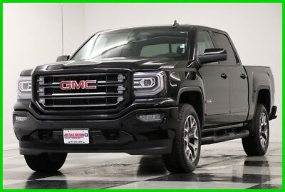 2017 GMC Sierra 1500 4WD SLT All Terrain Crew GPS Leather Black 4WD Like New Used Heated Seats Blacked Out Camera Bluetooth Remote Start 18 16 2018