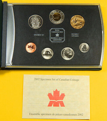 Kanada, 2002, KMS, Specimen Set of Canadian Coinage, mit Zertifikat