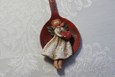 Country Primitive Angel metal spoon home decorative