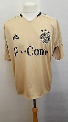 Bayern Munich 2004/05 Away Shirt Size L Large - Adidas - Gold & Black