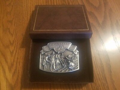 John Deere Limited Edition 150 Year Anniversary Belt Buckle, 1987