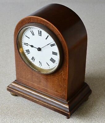 Antique French Wooden Cased Small Mantle Clock For Restoration