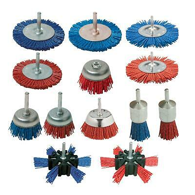 24 50 75 100 Rotary Nylon Filament Wire Cup End Drill Brush Wheel Non Sparking