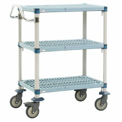 Metro MQUC2436G-35 MetroMax Q Polymer Utility Cart with 4 Swivel Casters, 3 Shel