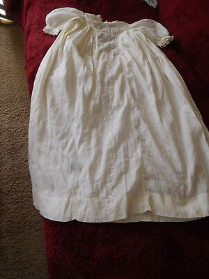 Antique Christening Gown / Victorian Edwardian Embroidered Baptism Baby Dress