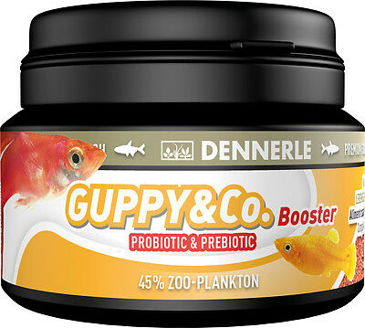 Dennerle Premium Fish Food: Guppy & Co. 100ml for Guppies, Platies, Mollies