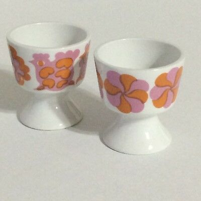 Set 2 ARABIA Finland Egg Cups vintage 60s 70s Made in England