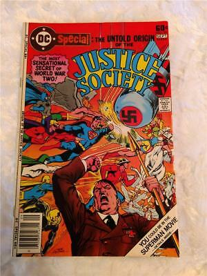 1977 DC Special Untold Origin of the Justice Society WWII Nazi No. 29 Issue