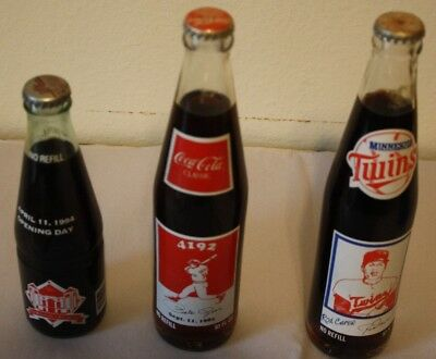 Two Collectable Sealed Coke Bottles--Rod Carew and Pete Rose 4192