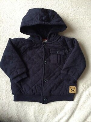 Jasper Conran Junior J Baby Boys Hooded Jacket Size 6-9 Months 100% Cotton Vgc