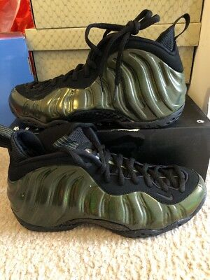 6310e067878 NIKE AIR FOAMPOSITE One Legion Green Black Gold Sz 8 314996-301 ...