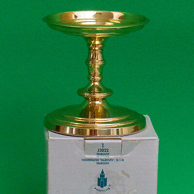 Still In Box, Partylite Falmouth Brass Pillar Candle Holder, J3022