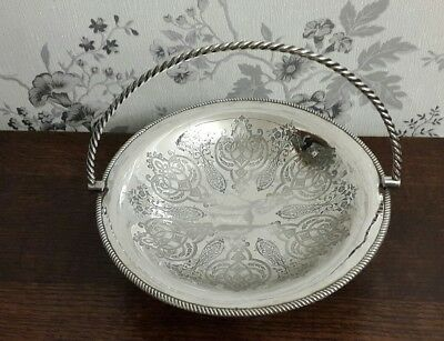 A Beautiful Vintage Silver Plated Handled Bowl