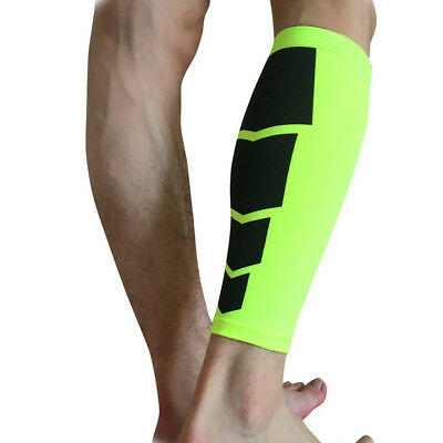Knee Sleeve Leg Guard Support Brace Sport Compression Running Green M Size