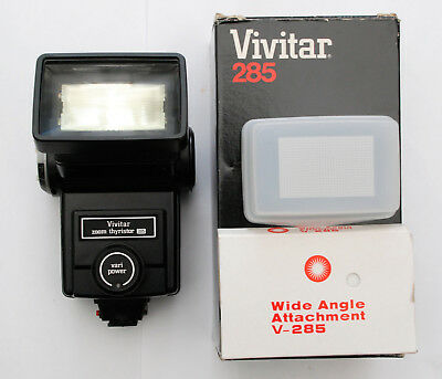 Vivitar 285 Zoom Thyristor (Flashgun, Hot Shoe Mount) & Extras