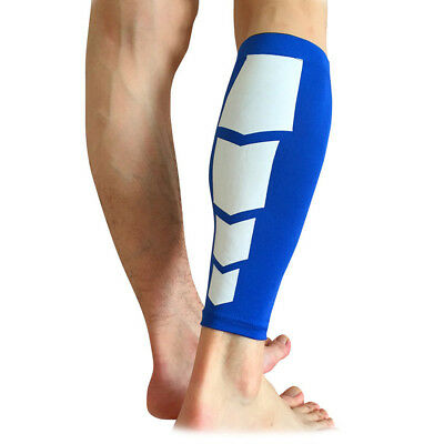 Knee Sleeve Leg Support Brace Sport Compression Running Protective Blue L Size