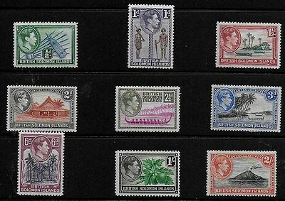 British Solomon Islands 1938 KGVI Pictorials SS to 2/- - MH