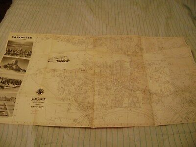 1950's BEKINS MOVING & STORAGE GREATER VANCOUVER BC BRITISH COLUMBIA MAP INDEX