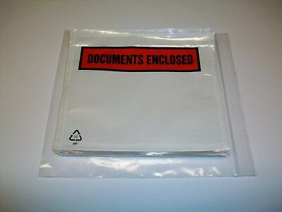 100 x A7 DOCUMENTS ENCLOSED Address Labels Wallet Envelope Self Adhesive FREE PP
