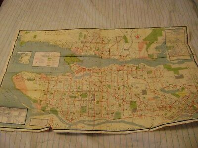 1959 Greater Vancouver British Columbia BCTransit System Map & Street Index