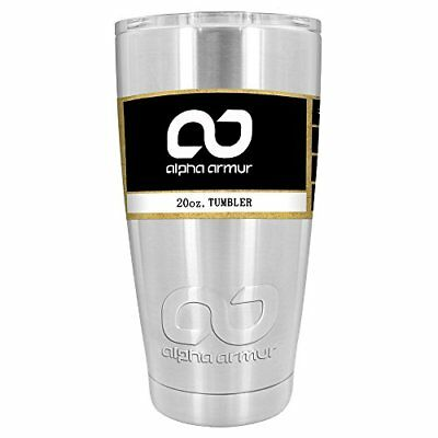 Alpha Armur 20 Oz Vacuum Insulated Tumbler Stainless Steel Hydro Water Bottle Tr