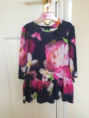 BNWT Ted Baker Girl's Navy Floral Dress (12-18 Months)
