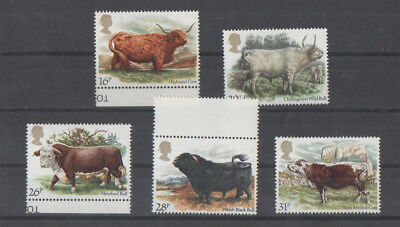 British Cattle First Postage Stamps (SG1240-1244)