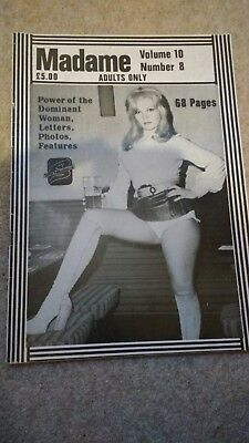 Rare Madame in a World v10 no8  leather, rubber high heel fetish magazine