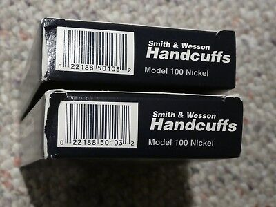 2 Sets of Smith & Wesson Model 100 Handcuffs Nickel