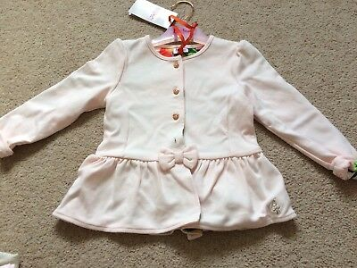 BNWT Girl's Ted Baker Pale Pink Jacket-style Top (18-24 Months)