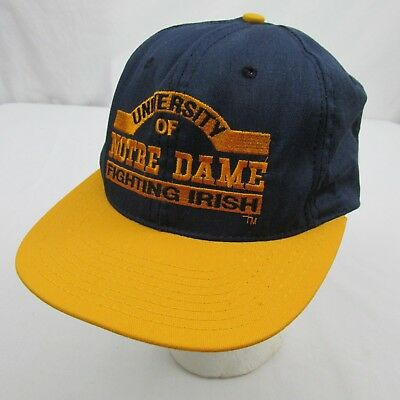 VINTAGE Notre Dame Fighting Irish NCAA Trucker Hat Cap Snapback Adjustable