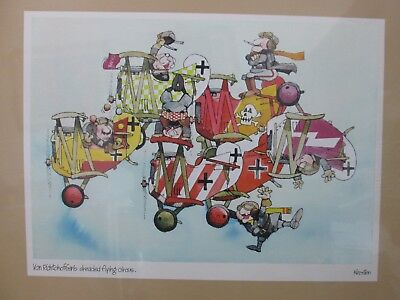 Vintage Poster Von Richtohoffen's dreaded flying circus military 1977 Inv#G653