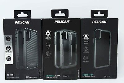 best service c65fb 7aa10 PELICAN PROTECTOR & Shield Series Case for iPhone X iPhone XS - Black - NEW  !!!