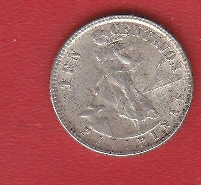 Pilipinas 10 Cents 1945 Silver