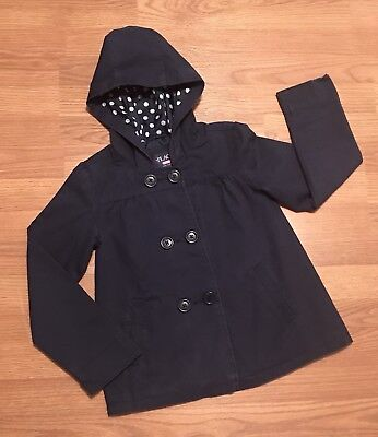 The Childrens Place- Girls Uniform Twill Jacket, Lined, Pea- Sz Med 7/8 Navy