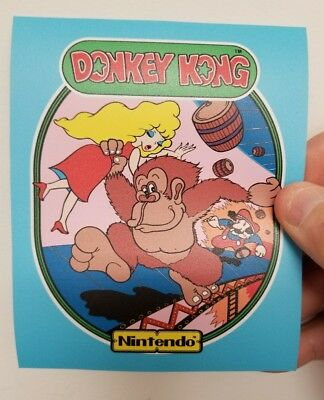 Donkey Kong  cabinet art sticker. 4 x 5. Buy any 3 stickers, GET ONE FREE!