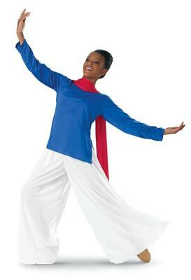 Dance Palazzo Pants White Medium/Large Child Small Adult Worship Liturgical