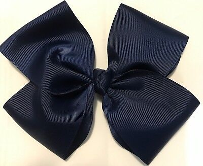 8 Inch bow Navy blue (JoJo Inspired) Great School Colours