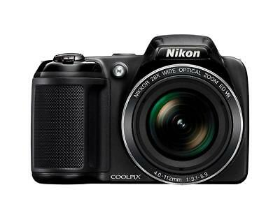 Nikon Coolpix L340 20.2 MP Digital Camera 28x Optical Zoom 3.0-Inch LCD Black